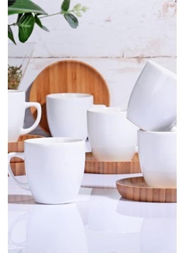 Kosova Keraart Bambu Kahve Fincan Takımı Seti - 12 Prç.Kahve Fincanı Renkli